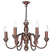 Elegant 6 Light Copper Pendant Fitting