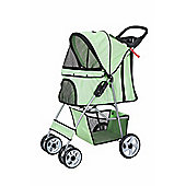 Confidence Deluxe Four Wheel Pet Stroller Dog Pushchair Trolley Jogger Green