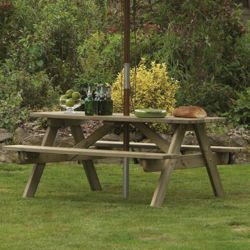 Alexander Rose Pine Woburn Picnic Table - 180cm
