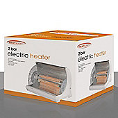 Heat and Light HL02 Radiant 2-Bar Electric Heater, 1800W - White