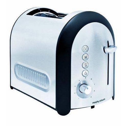 Morphy Richards 44341 Meno 2 Slice Lidded Toaster - Brushed Stainless Steel