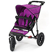 Out n About Nipper 360 Single Pushchair, Purple Punch