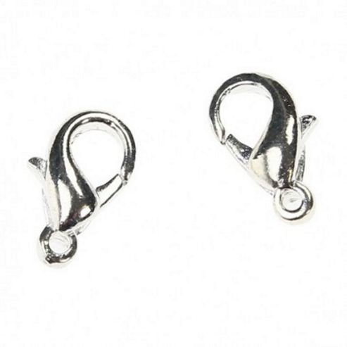 Lobster Clasp - Silver 12mm - 20 Pack