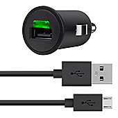 Belkin In-Car Cigarette Lighter Adapter with Micro USB Cable for Samsung Galaxy