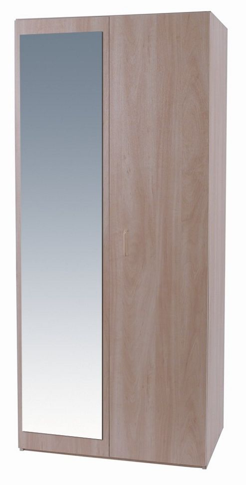 Alto Furniture Elemental Woodgrain Wardrobe with Mirror