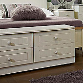 Welcome Furniture Coniston 4 Drawer Bed Box - Cream