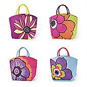 Rio Floral Jute Tote Bag