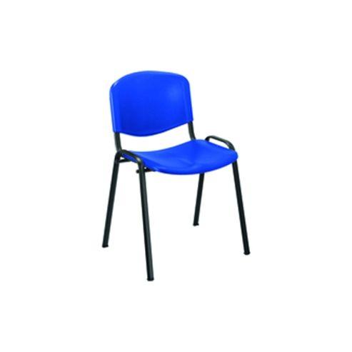 Jemini KF72368 MultiBlackPurpose Polypropylene Stacking Chair Blue
