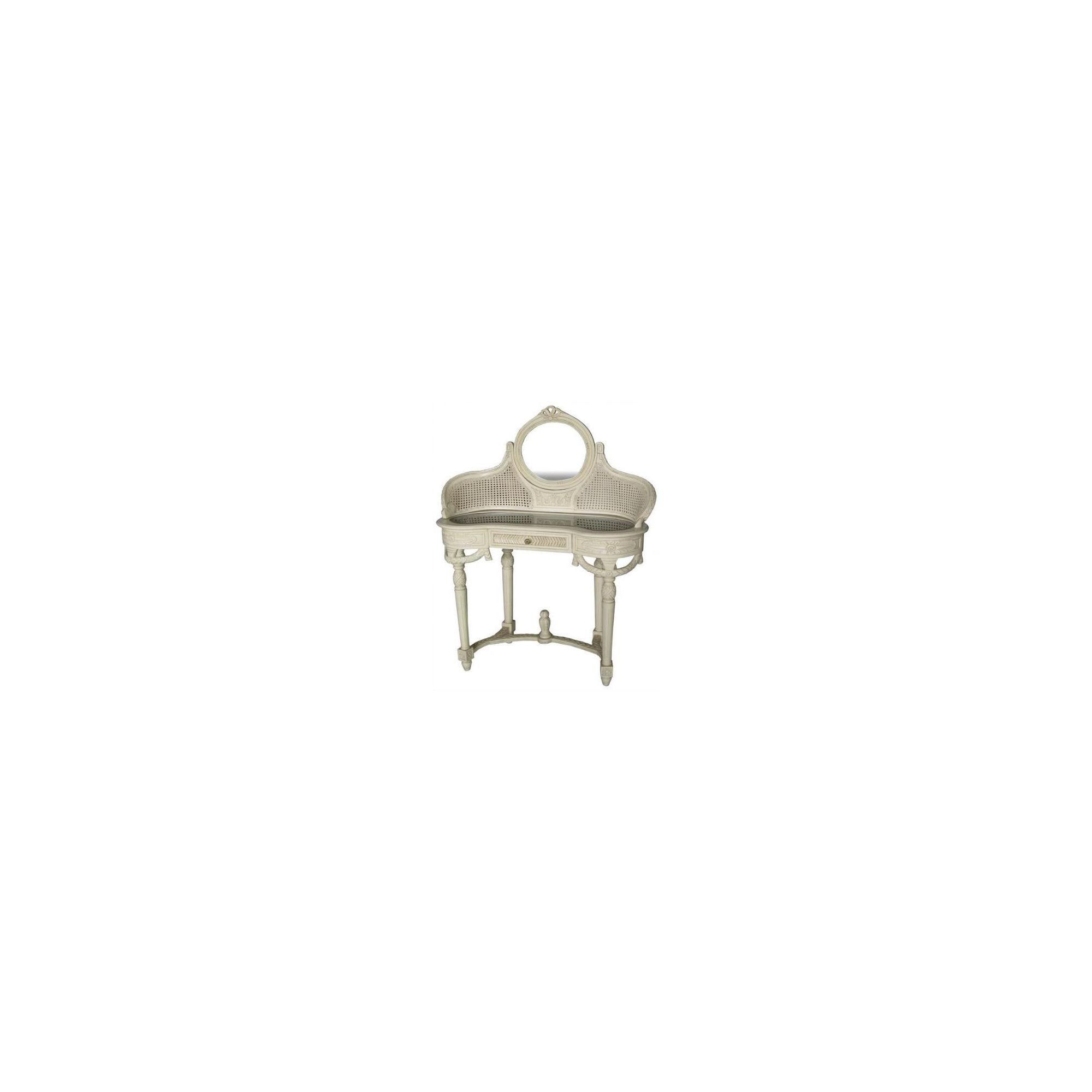 Lock stock and barrel Mahogany Rattan Dressing Table in Mahogany - Antique White at Tesco Direct