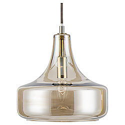 Cologne Glass Pendant Light, Champagne Metallic