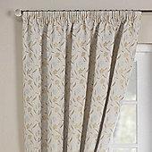 Rectella Mia Blue Luxury Jacqaurd Pencil Pleat Curtains -168x183cm