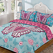 Kids Childrens Quilt Duvet Cover with Pillow Case Single Double - Blue