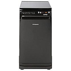 Hotpoint Slimline Dishwasher, SIUF22111K, Black