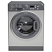Hotpoint Extra WMXTF842G Washing Machine, 8Kg Wash Load, 1400 RPM Spin, A++ Energy Rating, Graphite