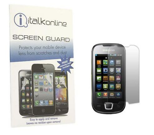iTALKonline S-Protect LCD Protector and Micro Fibre Cleaning Cloth - For Samsung i5800 Galaxy 3
