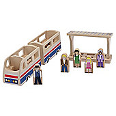 Wooden Toys - Train Platform Set - Melissa & Doug