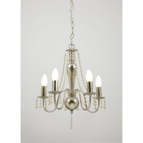 Endon Lighting Five Light Chandelier in Silver Plate