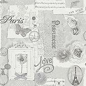 Felicity Paris Wallpaper - Grey - 665401