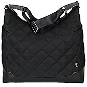 OiOi Changing Bag Black Quilt Hobo