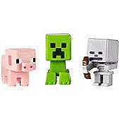 Minecraft Mini-Figures 3 Pack Skeleton, Pig and Creeper