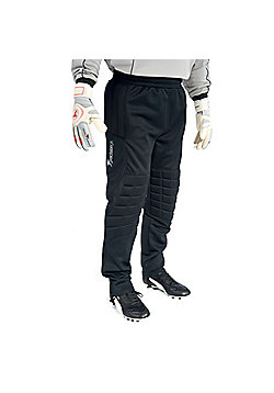 Precision Training Full Length Goalkeeping Pant Padded Football Trousers - Black
