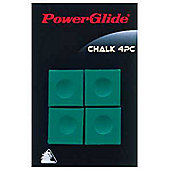 Powerglide Snooker Chalk 4 PC Green