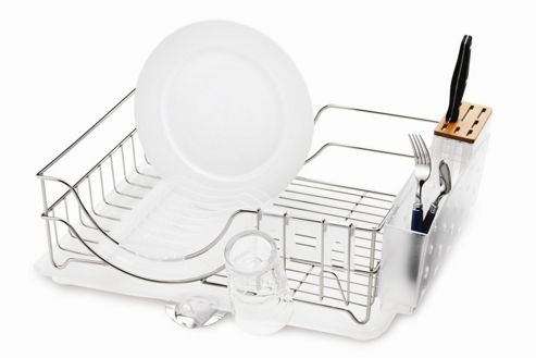 simplehuman System Dish Rack in Brushed Stainless Steel