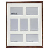 Tesco Basic Photo Frame Walnut Effect 7 Aperture