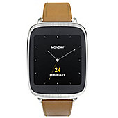 Asus ZenWatch (1.63 inch Touch) Android Wear Leather Smart Watch (Gold)