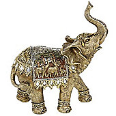 Jaipur - Decorative Indian Elephant Ornament - Gold / Silver