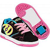 Heelys Propel 2.0 Black/Neon Multi Kids Heely Shoe - Multi