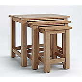 Ametis Sherwood Oak Nesting Table