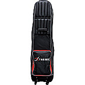 Big Max Mens Supermax 4 Wheel Travel Cover in Black & Red