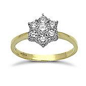 Jewelco London 18 Carat Yellow Gold 75pts Diamond Ring