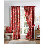 Curtina Anais Red 46x90 inches (116x228cm) Lined Curtains
