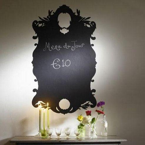 Ornate Frame Blackboard Wall Sticker