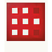 Dix Heure Dix Metalo 9 Light Flush Light - Red Background/ 7 White + 2 Red Lights