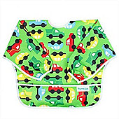 Bumkins Waterproof Sleeved Bib (On The Go Green)
