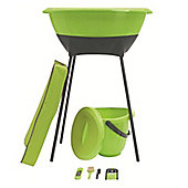LUMA 7 Piece Baby Bath Set Lime Green