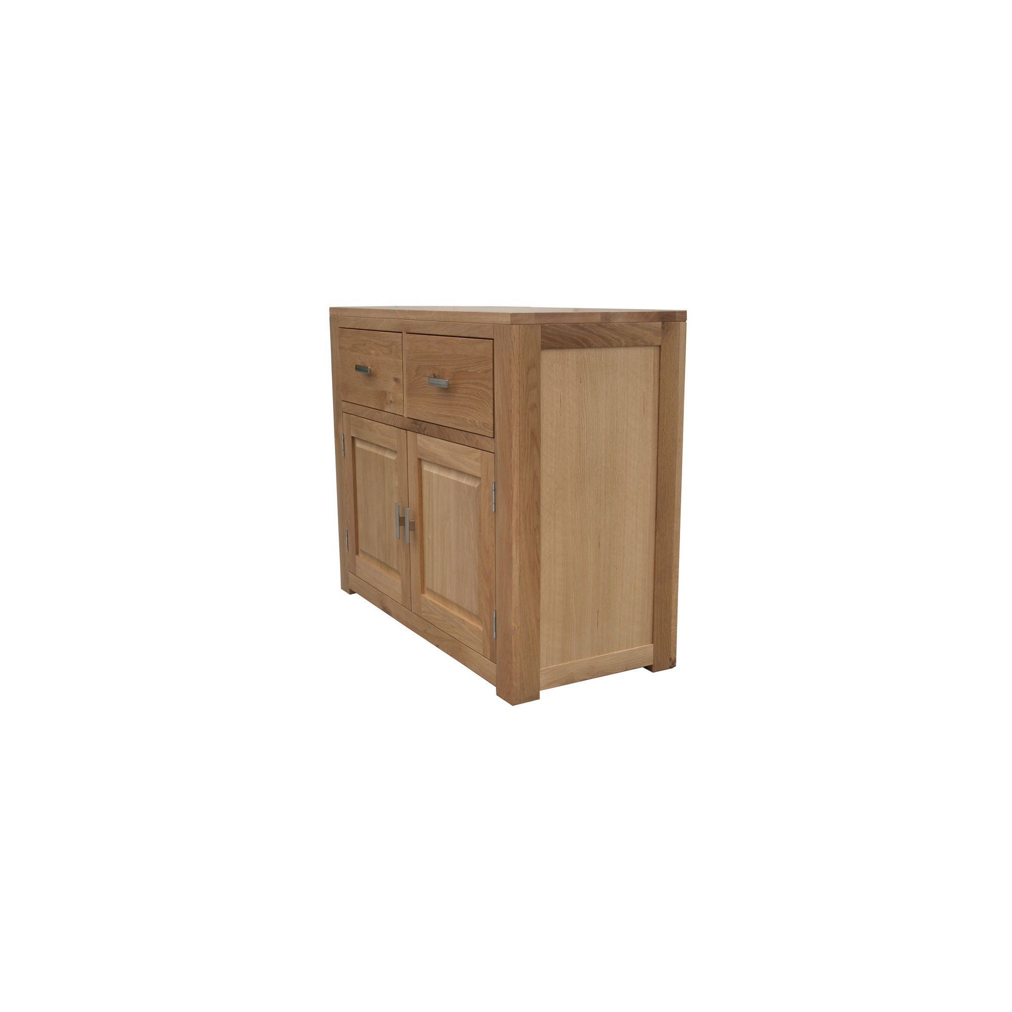 Home Zone Furniture Churchill Oak 2010 Two Drawer Sideboard in Natural Oak at Tesco Direct