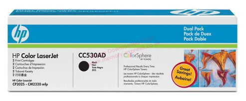 Hewlett-Packard No.304A Print Cartridge with ColorSphere Toner (Pack 2) - Black