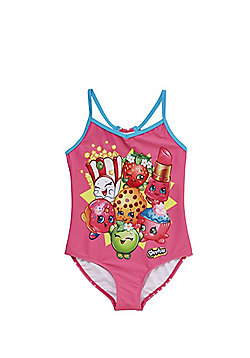 Shopkins Bow Detail Swimsuit - Pink