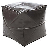 Kaikoo Faux Leather Cube Brown