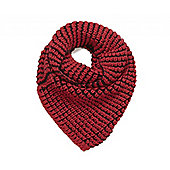 Red and Black Reversible Snood