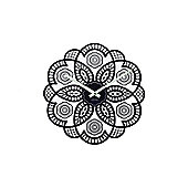 Karlsson Lace Cut Out Wall Clock - Black