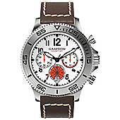 Grayton Comet.Jet Mens Leather Chronograph Date Watch GR-0014-004.3