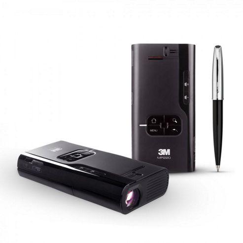3M MP220 LED Pocket Projector 400:1 50 Lumens (1024x600) 0.4kg (Black)
