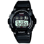 Casio Sports Unisex Rubber Chronograph Watch W-214HC-1AVEF