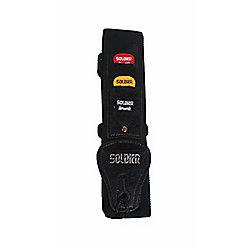 Soldier Adjustable Webbing Guitar Strap and 3 Plectrums - Black