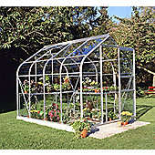 Halls 8x6 Curved Aluminium Greenhouse + Base - Toughened Glass